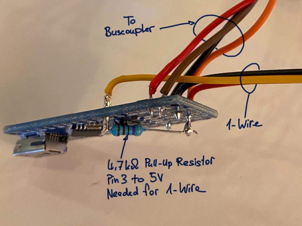 Arduino KNX, OneWire and PullUp Resistor